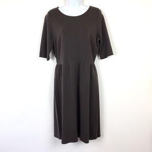 Garnet Hill Dress Gray Sz 10